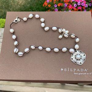 N2327 Silpada Rhyannon pearl sterling necklace